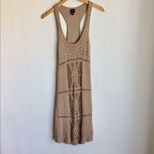2bBebe Knit Dress Size L Gold Metal Accents